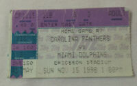 November 15, 1998 football ticket stub ~ CAROLINA PANTHERS vs MIAMI DOLPHINS