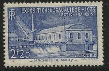 France Scott #388, Single 1939 Complete Set FVF MH