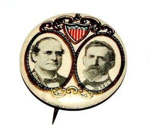 1908 WILLIAM JENNINGS BRYAN JOHN KERN campaign pin pinback button political