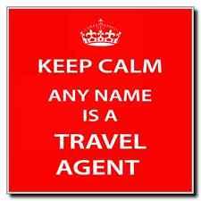 Agente de viajes Personalizada Keep Calm Coaster