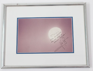 Neil Armstrong signed autographed framed photo! RARE! AMCo LOA!