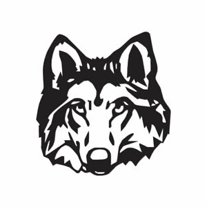 Wolf Dog Head - Vinyl Decal Sticker - Multiple Color & Sizes - ebn1036