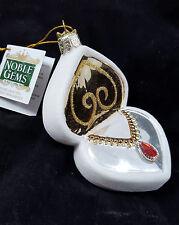 Red Jeweled Necklace in Jewelry Box Glass Ornament Kurt Adler Valentine New
