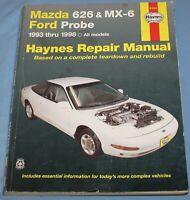 1993-1998-2002 Mazda 626, MX-6 Ford Probe Haynes Repair Service Manual