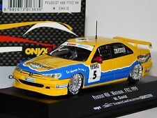 PEUGEOT 406 TEAM WATERAIR  #5 W. DAVID FTCC 1999 ONYX XTC99022 1/43