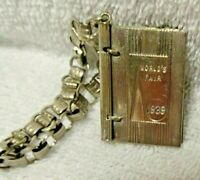 1939 New York World's Fair Small Metal  Signature Book And Bracelet