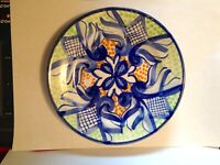 "Charming Vintage Talavera Mexico Hand Painted 7"" Ceramic Plate"