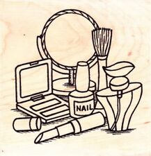 DRESSING TABLE - Wood Mounted Rubber Stamp - Personal Impressions