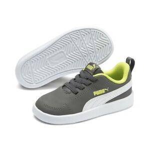 Puma Unisexe Enfants Courtflex Inf Chaussures de Sport Basket 362651 Gris