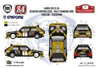[FFSMC Productions] Decals 1/18 Lancia Delta S4 Grifone Esso #7 Sanremo 86 rally