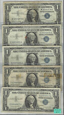 15~~1957  $1 SILVER CERTIFICATES ~~G-VF~~EACH COMES IN PLASTIC SLEEVES