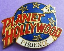 Planet Hollywood PHOENIX Classic Globe Red, White & Dark Blue Lapel Pin NEW!