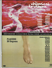 PLACEBO & CHEMICAL BROTHERS Trade Ad POSTER for 1996 CD