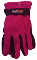Men Women Lady Outdoor Sports Winter Fleece Thermal Insulation Gloves