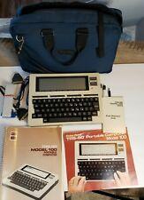 Radio Shack TRS-80 Model 100 Portable Computer + Case, Accessories, Manual