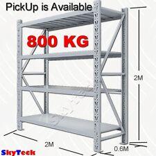 2M WAREHOUSE GARAGE METAL SHELVING SHOP SHED RACKING SYSTEM 800kg grey 5-2020GR