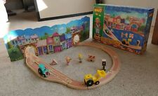BRIO Bob the Builder Travis & Spud Wooden Race Set 32812 Train Thomas Vintage