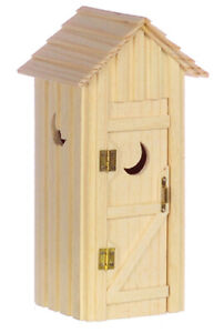 Miniature Dollhouse Garden Outhouse 1:12 Scale New