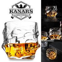 Whiskey Glass Set 4Pcs for Scotch Rye Vodka Irish Whisky Lead Free Crystal