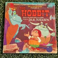 THE HOBBIT by J.R.R. Tolkien soundtrack with picture book LP OOP RARE (1977)