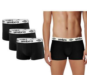 New Mens 3 Pack Boxer Shorts UMBRO Underwear Trunks Branded Multi Pack 3x Gift