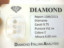 Diamanti trilogy  in blister da 0,75 ct totali