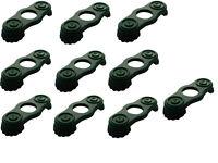 Lego 10 Stück Epauletten in dunkel grün für Minifigur Schulterklappen 2526 Neu