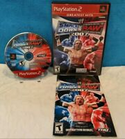 WWE SmackDown vs. Raw 2007 - Greatest Hits (Sony PlayStation 2, 2006) w/Manual
