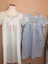 Carole NWOT Lot of 2  Lightweight Nightgown Pajamas Made USA SZ Medium, Pastels
