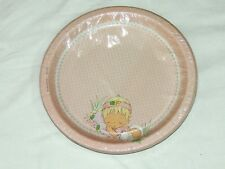~PRECIOUS MOMENTS~  BABY GIRL  8-PINK LARGE  PAPER  LUNCH PLATES PARTY SUPPLY