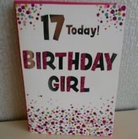17 Today Birthday Girl Glittery Card 17th Birthday Here's a special Greeting