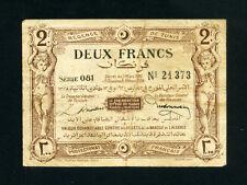 Tunisia:P-50,2 Francs,1920 * REGENCE DE TUNIS * Scarce Type * VF *