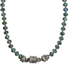 KIRKS FOLLY  MYSTIC DREAM BEADED MAGNETIC NECKLACE silvertone