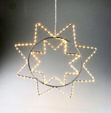 Stern 150 Micro LED warmweiß Drahtstern Weihnachtsstern Fensterbild outdoor 37cm