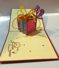 Spectacular Gift Box Pop-Up 3D Birthday Card **Best Price in Australia**