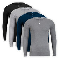 Men Casual Classic Cotton Long Sleeve T-Shirt Crew Neck Casual Top Sweater Tee