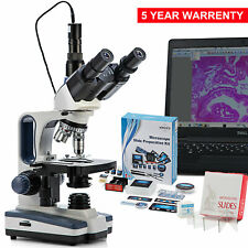 Microscopio Compuesto Trinocular Swift 2500X con 1.3MP Cámara experimento kits de diapositivas