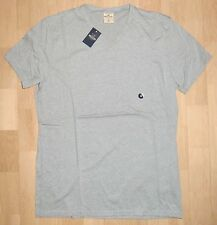 Hollister T-Shirt Grau Gr. M (Konfektion 48/50) Stretch V-Neck *NEU*