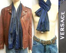 ITALY VERSACE SETA Silk 13x62 33x157.5 Men Scarf Shawl Wrap Holiday Gift Women