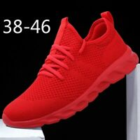 Men's Breathable Mesh Jogging Shoes Lightweight Casual Running Sport Sneakers