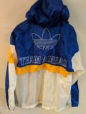 Vintage Team Adidas Windbreaker Hooded Jacket 80s 90s Trefoil Yeezy Large L