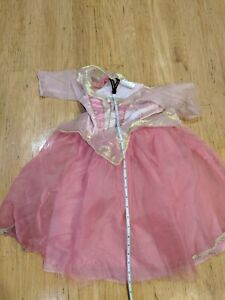 Disney Aurora Sleeping Beauty Pink Princess Dress Up Pretend Costume 4-6x