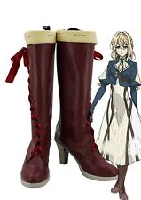 Violet Evergarden Violet Cosplay Shoes Boots Custom Made Red