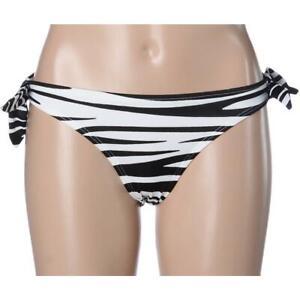 Victoria's Secret Womens B/W Zebra Stripe Swim Separates Bottoms XS  9ZXS