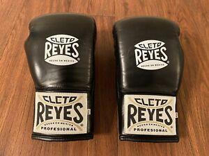 Cleto Reyes Official Safetec Gloves, 10 oz, Black, New