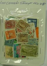 CANADA, pack of 200 different stamps plus 2 packs of 100 different stamps.