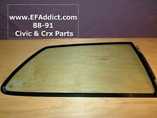 90-91 HONDA CIVIC HATCH PASSENGER REAR GLASS RIGHT REAR GLASS VENT WINDOW