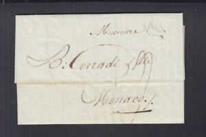 Frankreich France Brief 1805 Brest Lamartiniere et Floch Marine Schiffe n Monaco