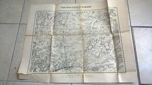 Carta mappa Piano della Battaglia di Orleans1870  battle military map 60x50 cm