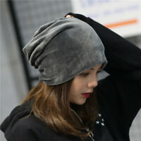 Women Winter Warm Hat Velvet Casual Baggy Beanie Ski Slouchy Cap Scarf Skull New